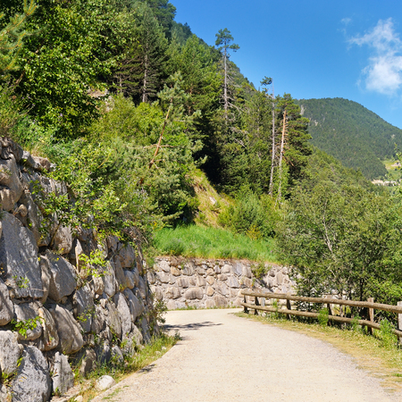 walking trail: Tourist walking trail in the mountains