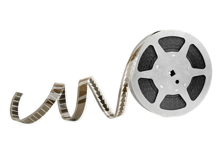 video reel: film strip isolated on white background