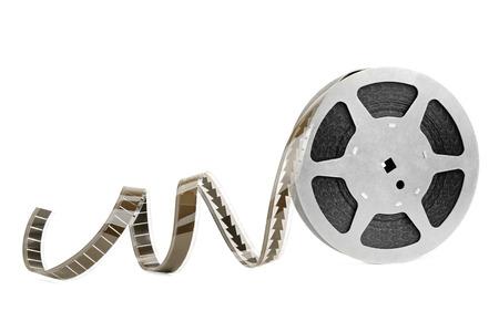 roll film: tira de pel�cula aislados sobre fondo blanco Foto de archivo