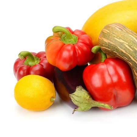 fruit: fruit and vegetable isolated on white background