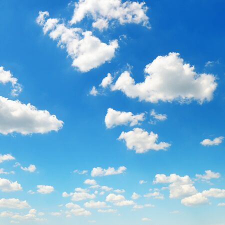 cumulus: cumulus clouds in the blue sky Stock Photo
