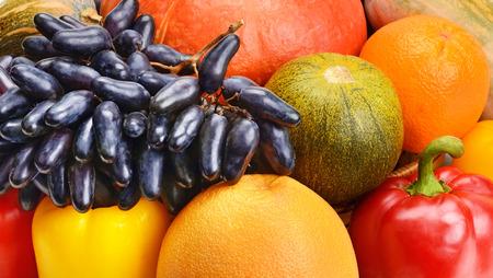 orange snake: colorful background of fruits and vegetables