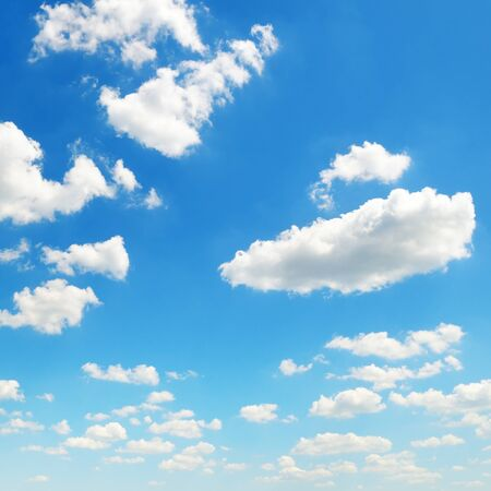 cumulus: blue sky and white cumulus clouds Stock Photo