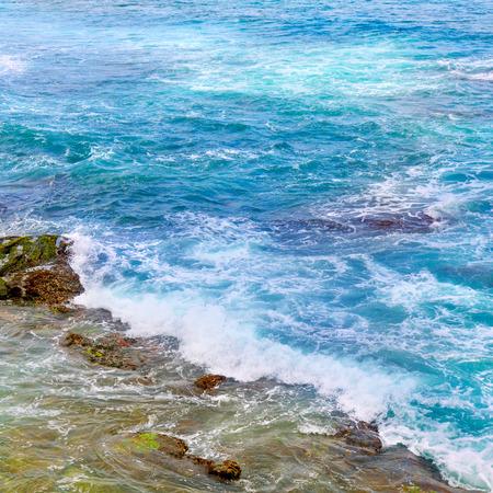 waters: background of ocean waters and coastal stones