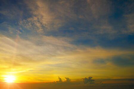 uprise: beautiful sunrise and cloudy sky Stock Photo