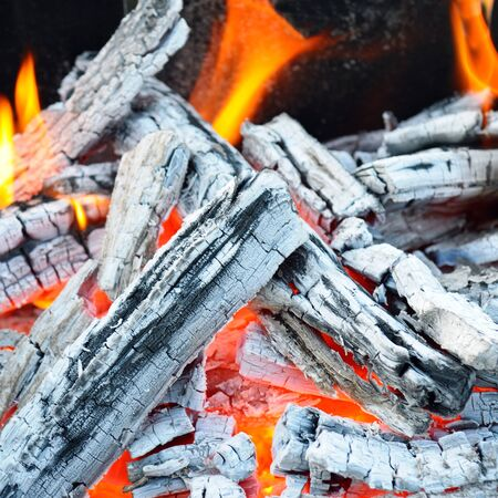 pyre: bonfire, fire, wood coal and ash