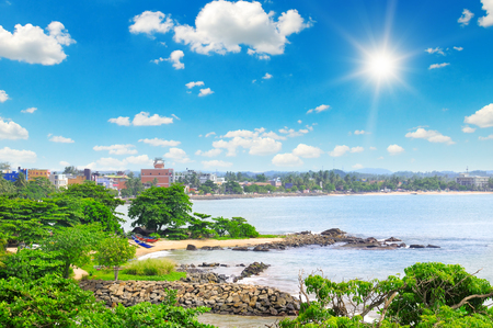 galle: views of the port city on the ocean (Galle Sri Lanka)