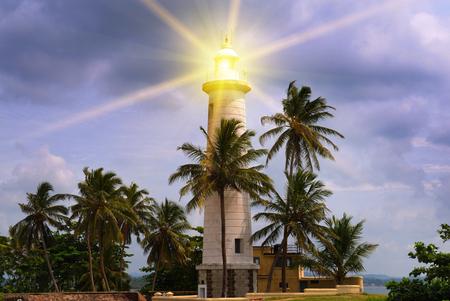 beacon light: beacon light against the evening sky Stock Photo
