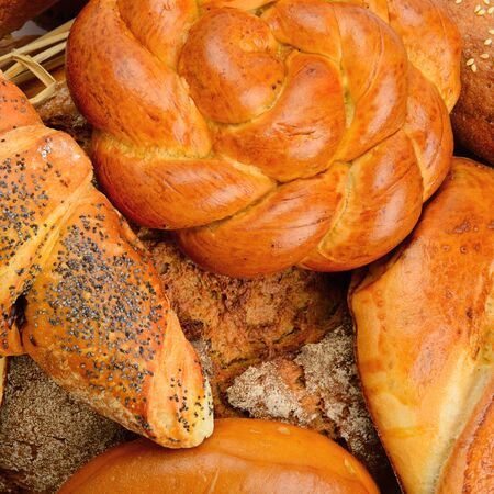 background baked goods and pastry products