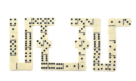 gambling counter: dominoes isolated on a white background