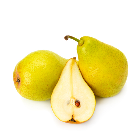 ripe juicy pear isolated on a white background