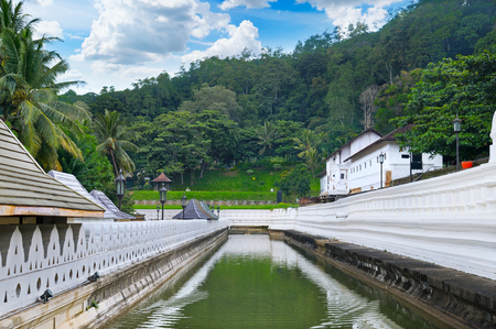 Buddhist Temple of the Tooth of the Buddha, Kandy Sri Lanka Stock Photo