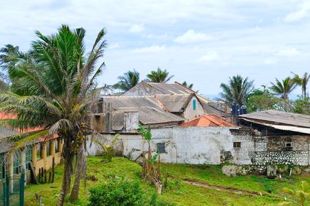 Abandoned houses after the tsunami. Sri Lanka, the city of Halle.
