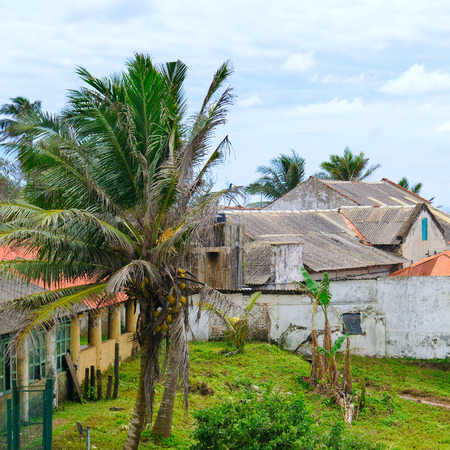 Abandoned houses after the tsunami. Sri Lanka, the city of Halle.