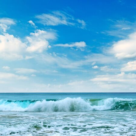 Beautiful seascape and blue sky.