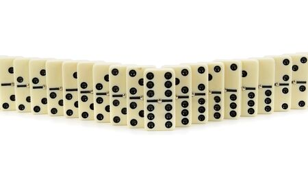 Set of dominoes isolated on a white background.