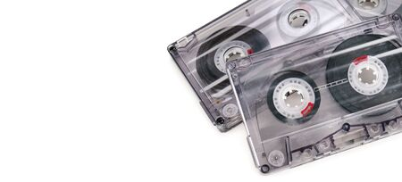 Vintage audio cassette tape isolated on white Standard-Bild