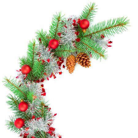 Christmas decor Isolated on a white background. Free space for text.