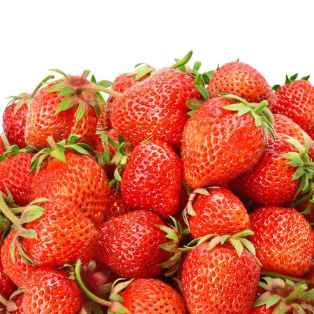 Strawberries Isolated on a white background. Healthy food. Foto de archivo