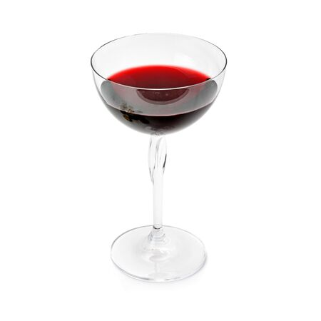 Red wine in a wineglass isolated on white 版權商用圖片