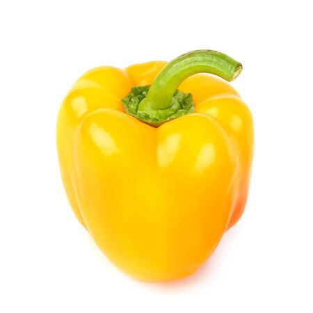 Yellow pepper isolated on a white background.