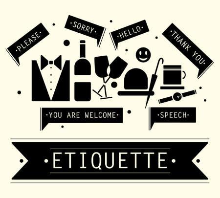 Die Elemente der Rede Etikette. Sätze in der Etikette.
