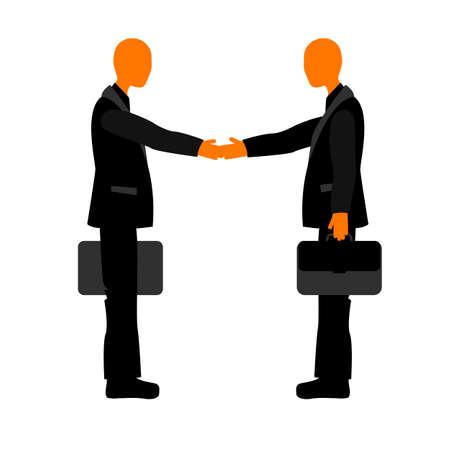 etiquette: Handshake colleagues at the meeting. Business etiquette.