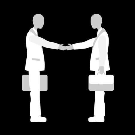 business meeting: Handshake colleagues at the meeting. Business etiquette.