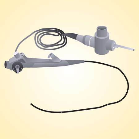 Medical instrument endoscope for research gastrointestinal tract for the presence of various diseases. It is also used in other areas of medicine. Vector illustration. Illustration