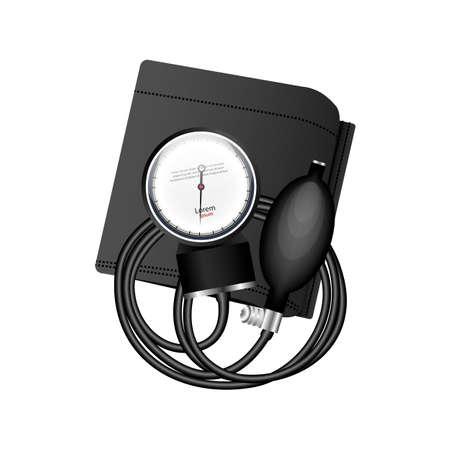 tonometer: Tonometer - a device for measuring human blood pressure. Medical Supplies. Vector illustration.
