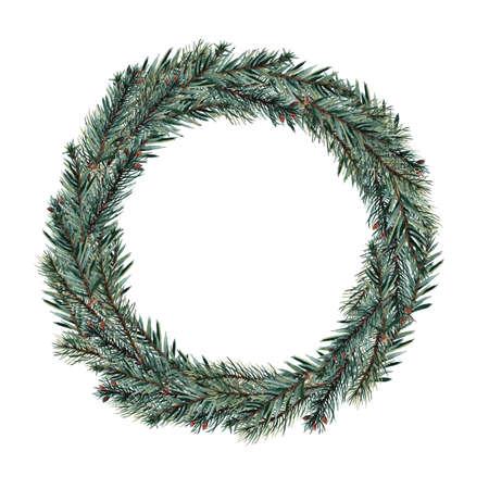 guirnaldas de navidad: Acuarelas guirnaldas de Navidad. Foto de archivo