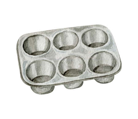 Watercolor metal baking form for cupcakes