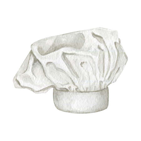 Watercolor white culinary chef hat