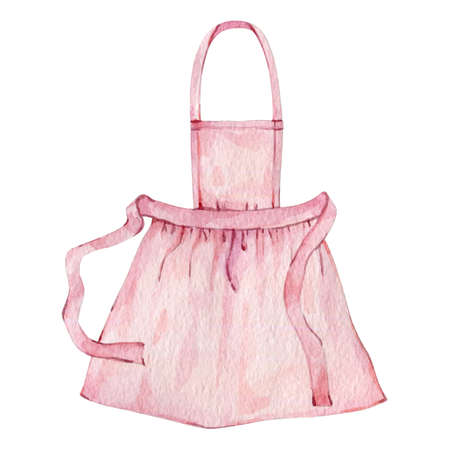 Watercolor pink apron for cook chef