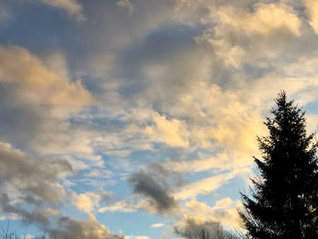 blue sky is covered by white clouds