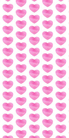 Heart pattern with pink texture on a white background