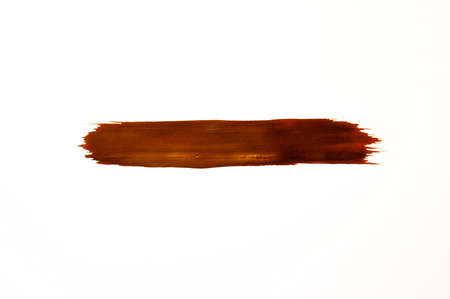Smears of brown paint on a white background Banco de Imagens