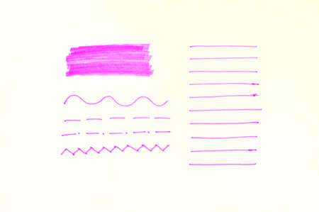 Set of pink stripes on a white background