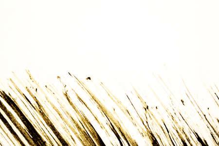 Stroke of black mascara, isolated on white macro Banco de Imagens