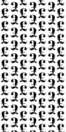 Pound sign icon. GBP currency symbol. Money label. Seamless grid lines texture. Cells repeating pattern. White texture background.