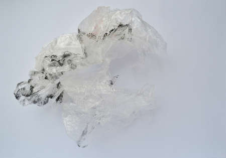 Dirty plastic bag on a white background. chemist day. international climate day. World Hydrography Day Banque d'images