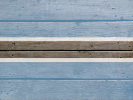 Botswana flag painted on wood plank background. Brushed natural light knotted wooden board texture. Wooden texture background flag of Botswana Stock fotó
