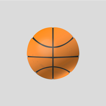 Vector illustration for basketball ball. Illustration