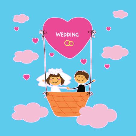 Wedding in the clouds Çizim