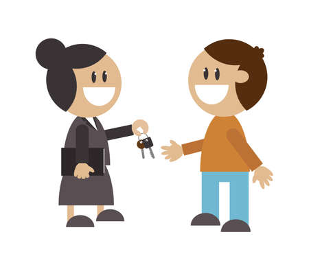 Deal of two people. Vector illustration.