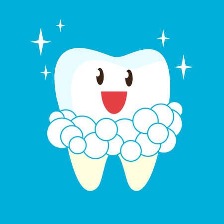 Teeth whitening. Vector illustration. Illustration