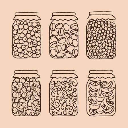 Blanks for the winter. Vector illustration. Standard-Bild - 107713598
