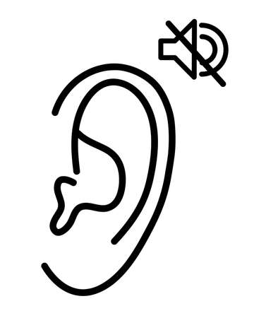 The person does not hear. Vector illustration.