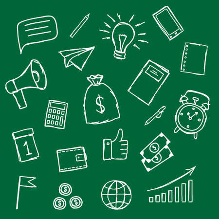 Collection of business icons. Vector illustration.