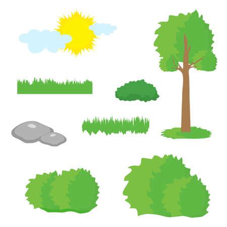 Tree on white background. Vector illustration. Ilustrace